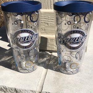 Two brand new Tervis Tumblers-Milwaukee Brewers